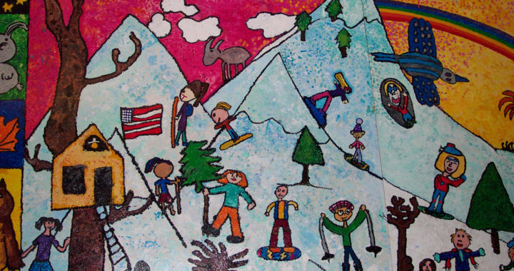Totoket Valley Elementary School Mural detail