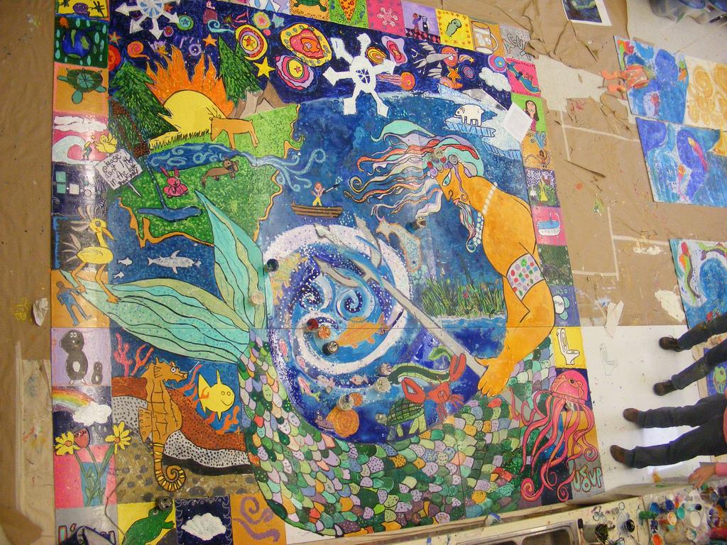 King Lowe Hayward Thomas School  Public Art For. Waterproof Stickers. Web Service Banners. Handprint Murals. Uwg Logo