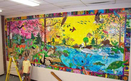 Hallway Mural Putnam Middle School by JoAnn Moran