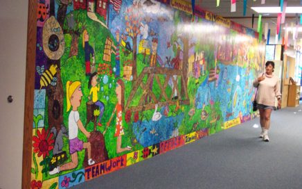 East Farms Elementary School, Farmington, CT - Entrance Murals